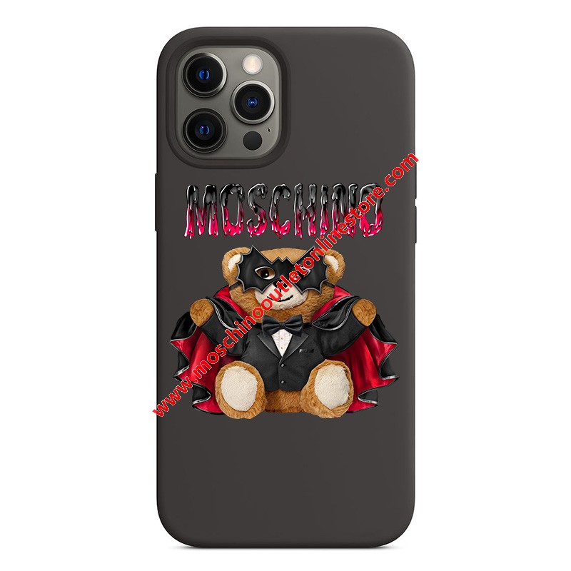 Moschino Bat Teddy Bear iPhone Case Black