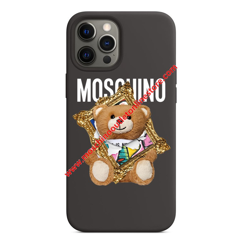 Moschino Frame Teddy Bear iPhone Case Black