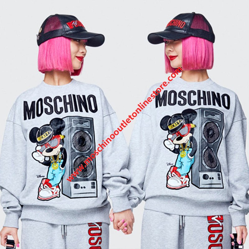 Moschino x H&M Women Long Sleeves Sweater Grey