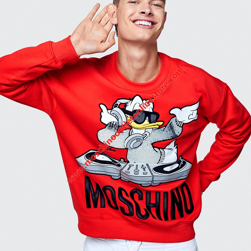 Moschino x H&M Women Long Sleeves Sweater Red