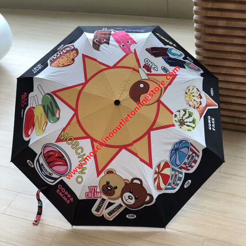 Moschino Ice Cream Women Mini Umbrella Black