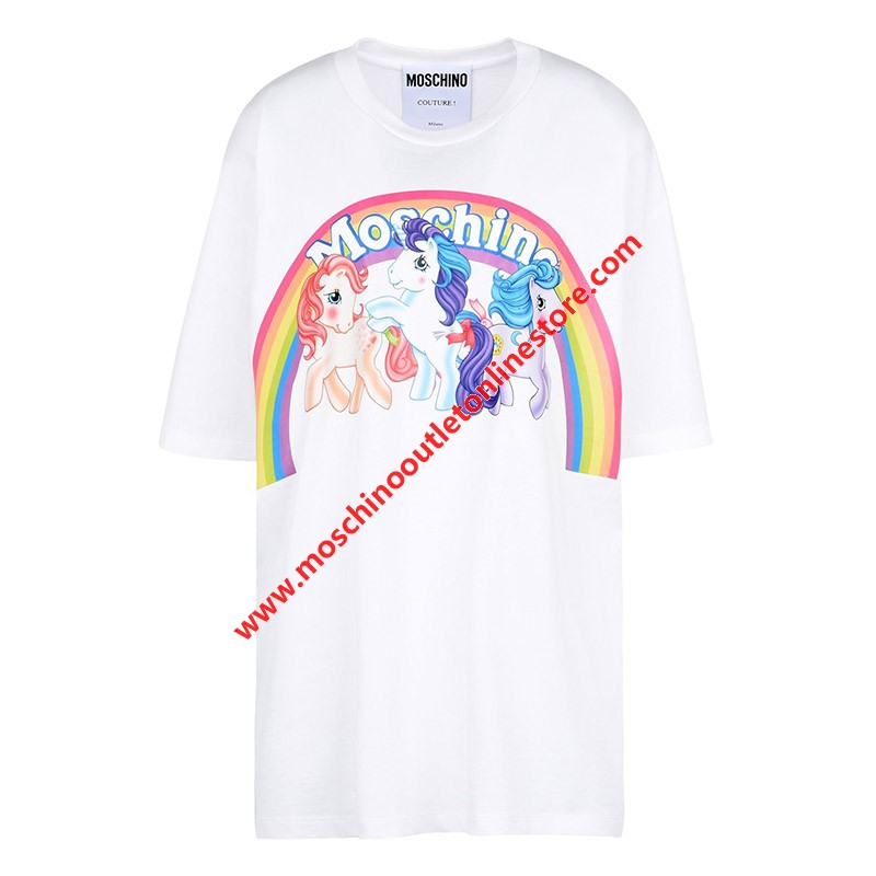 Moschino My Little Pony Women Short Sleeves T-Shirt White