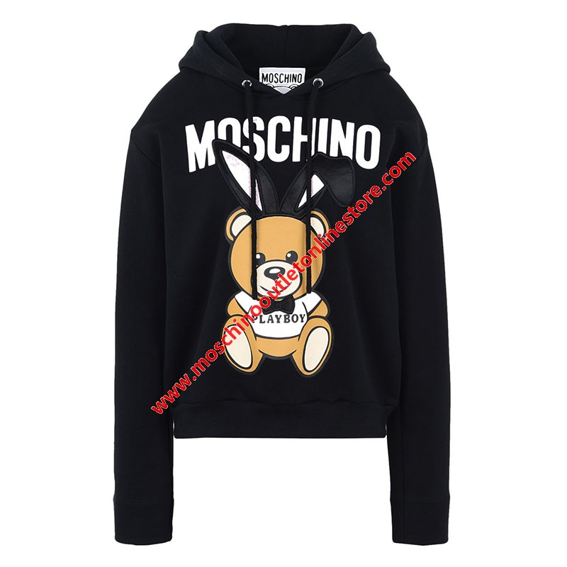 Moschino Playboy Bear Women Long Sleeves Sweatshirt Black