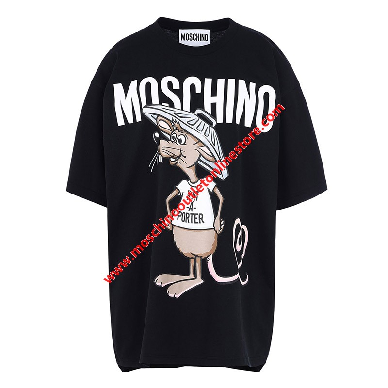Moschino Rat A Porter Women Short Sleeves T-Shirt Black