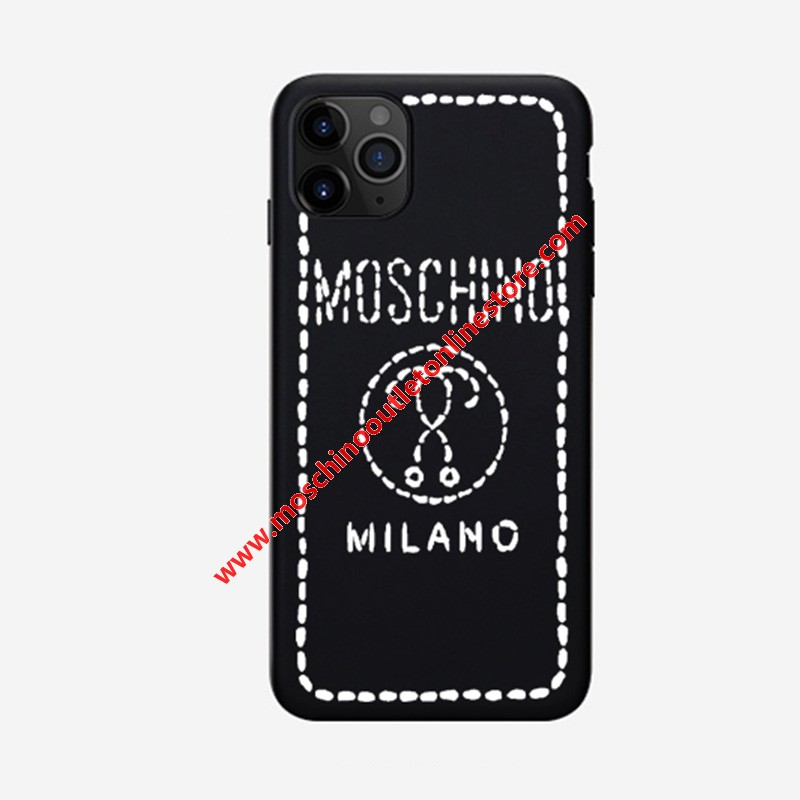 Moschino Stitching Question iPhone Case Black