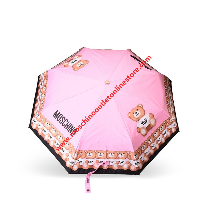 Moschino Toy Bears Women Mini Umbrella Pink