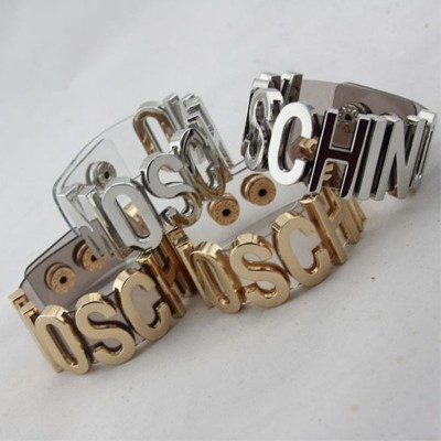 Moschino Logo Women Transparent Bracelets