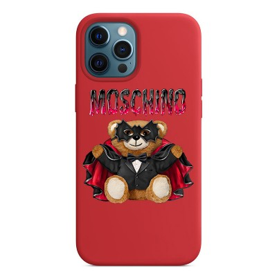 Moschino Bat Teddy Bear iPhone Case Red