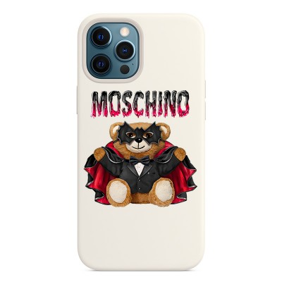 Moschino Bat Teddy Bear iPhone Case White