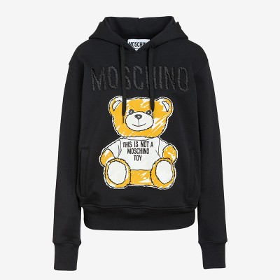 Moschino Brushstroke Teddy Bear Women Long Sleeves Sweatshirt Black