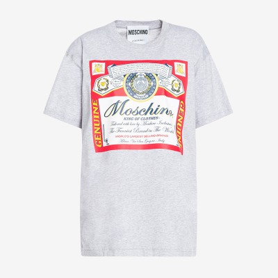 Moschino x Budweiser Women Short Sleeves T-Shirt Grey