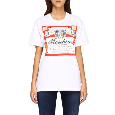 Moschino x Budweiser Women Short Sleeves T-Shirt White