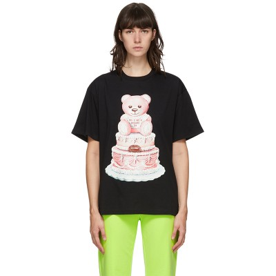 Moschino Cake Teddy Bear Women Short Sleeves T-Shirt Black