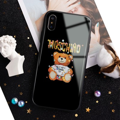 Moschino Christmas Teddy iPhone Case Black