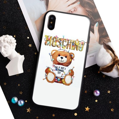 Moschino Christmas Teddy iPhone Case White