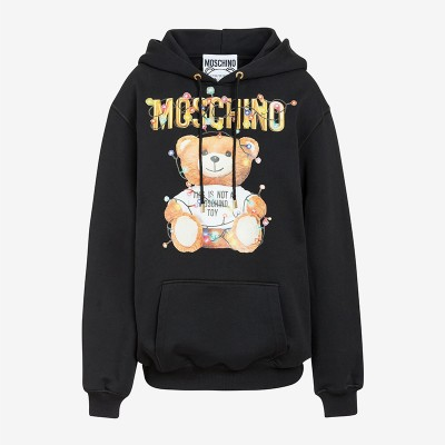 Moschino Christmas Teddy Women Long Sleeves Sweatshirt Black