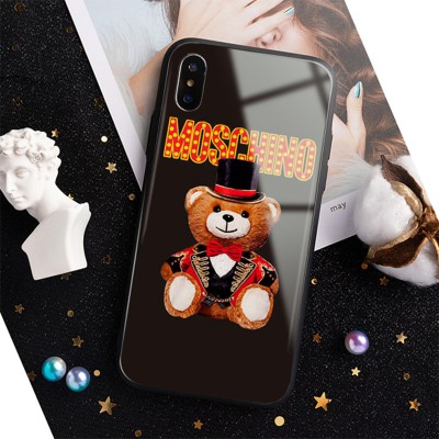 Moschino Circus Teddy iPhone Case Black