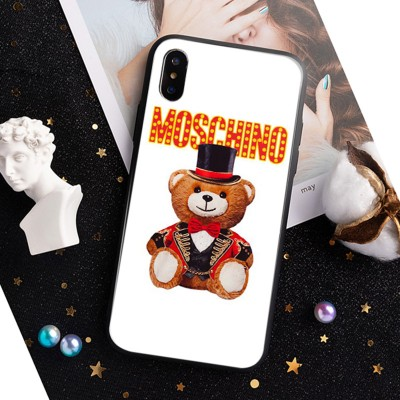 Moschino Circus Teddy iPhone Case White