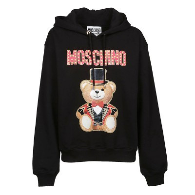Moschino Circus Teddy Women Long Sleeves Sweatshirt Black