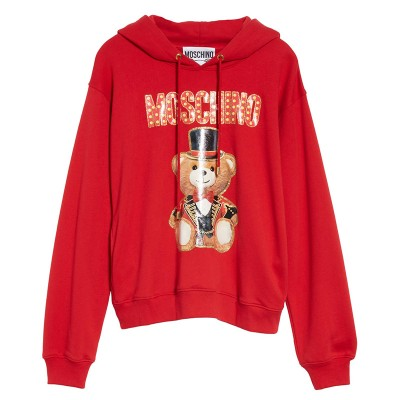 Moschino Circus Teddy Women Long Sleeves Sweatshirt Red