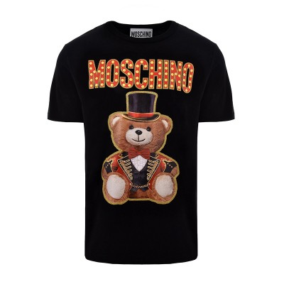 Moschino Circus Teddy Women Short Sleeves T-Shirt Black