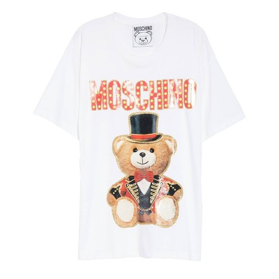 Moschino Circus Teddy Women Short Sleeves T-Shirt White