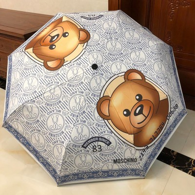 Moschino Credit Card Bear Women Mini Umbrella Grey