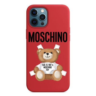 Moschino Cross Bear iPhone Case Red