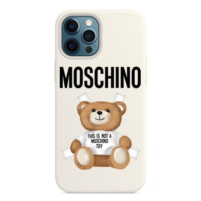 Moschino Cross Bear iPhone Case White