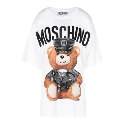 Moschino Dressed Bear Women Short Sleeves T-Shirt White