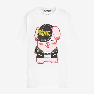 Moschino x The Sims Freezer Bunny Women Short Sleeves T-Shirt White