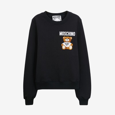 Moschino Furry Teddy Bear Women Long Sleeves Sweater Black