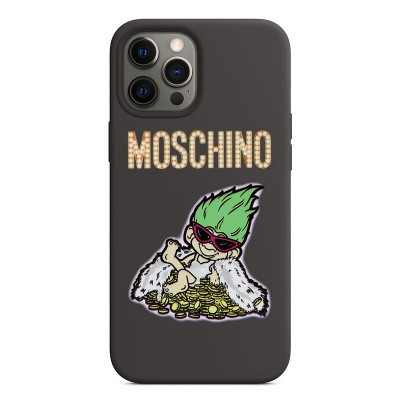 Moschino Good Luck Trolls iPhone Case Black/Green