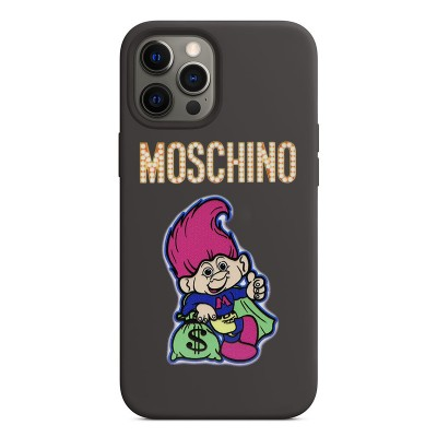 Moschino Good Luck Trolls iPhone Case Black/Rose