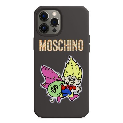 Moschino Good Luck Trolls iPhone Case Black/Yellow