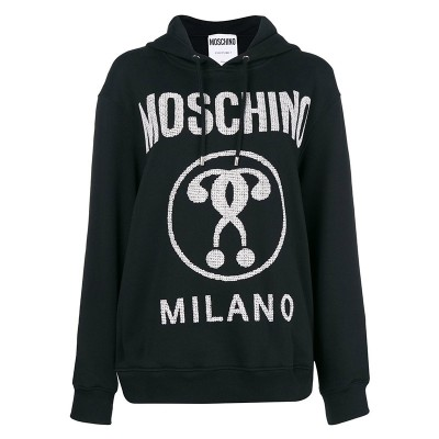 Moschino Hearted Question Women Long Sleeves Sweatshirt Black