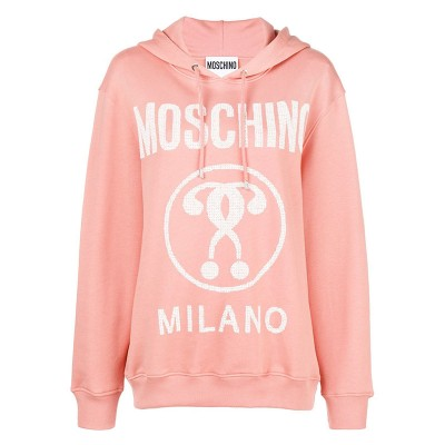 Moschino Hearted Question Women Long Sleeves Sweatshirt Pink