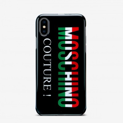 Moschino Italian Logo iPhone Case Black