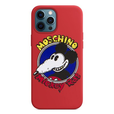 Moschino Mickey Rat iPhone Case Red