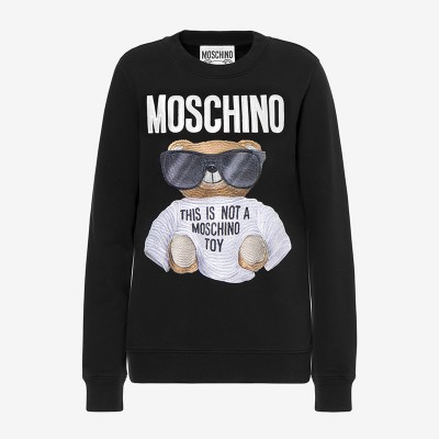 Moschino Micro Teddy Bear Women Long Sleeves Sweater Black