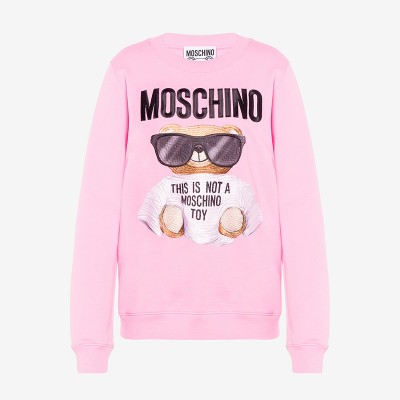 Moschino Micro Teddy Bear Women Long Sleeves Sweater Pink