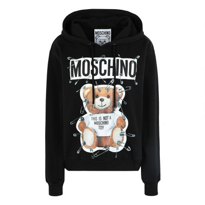 Moschino Safety Pin Teddy Women Long Sleeves Sweatshirt Black