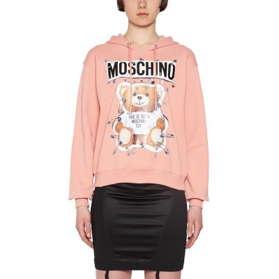 Moschino Safety Pin Teddy Women Long Sleeves Sweatshirt Pink