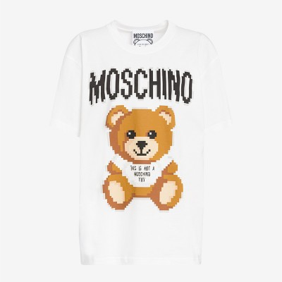 Moschino x The Sims Teddy Bear Women Short Sleeves T-Shirt White