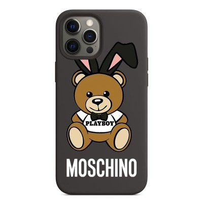 Moschino Playboy Bear iPhone Case Black
