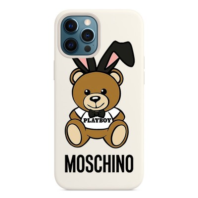 Moschino Playboy Bear iPhone Case White