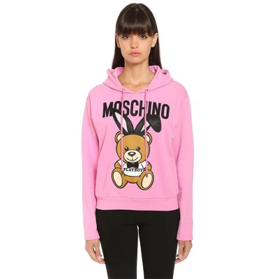 Moschino Playboy Bear Women Long Sleeves Sweatshirt Pink