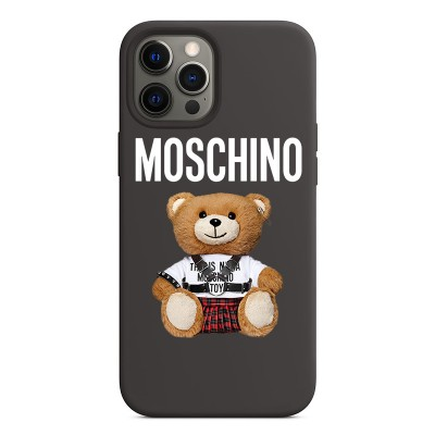 Moschino Punk Bear iPhone Case Black