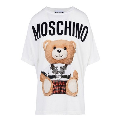 Moschino Punk Bear Women Short Sleeves T-Shirt White