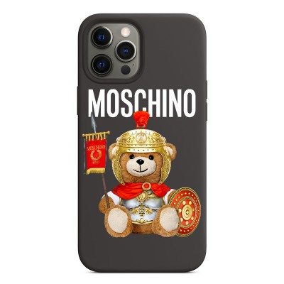Moschino Roman Teddy Bear iPhone Case Black